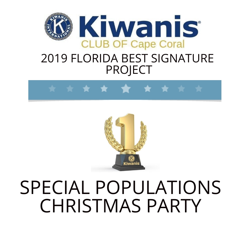 Special Populations Christmas Party   Kiwanis Cape Coral Florida